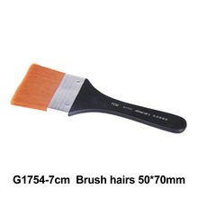 No. 7 Paint Brush Long Flat Head Cleaning Brush Gouache Acrylic Painting Brush Oil Brush Painting Wall Art Supplies 9 pieces long handle oblique flat art paint brush value set for oils acrylic gouache