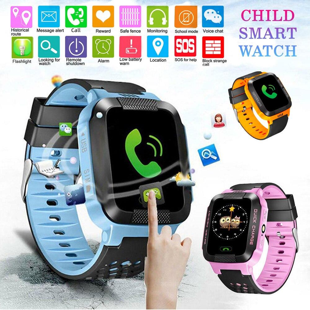 DIDIHOU Y21S Crianças Relógio Inteligente Anti-lost Kid Safe GPS Tracker SOS Chamada GSM Smartwatch Pulseira Fit Android iOS 51x38x16mm 1pc