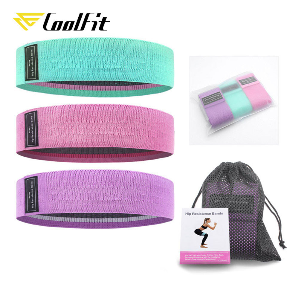 CoolFit Resistance Bands For Legs And Butt,Exercise Bands Hip Bands Wide Workout Bands Resistance Loops Band Anti Slip Elastic