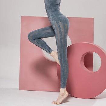 Women Leggings High Waist Mesh Patchwork Sports Leggings Push Up Black Blue Gym Fitness High Quatity Sportwear Femme Pants mesh trim color block gym leggings