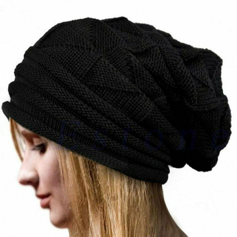 Warm Winter Hat Women Beanie Hats For Men Unisex Fashion Crochet Wool Knit Beanie Hat Invierno Turban Hat