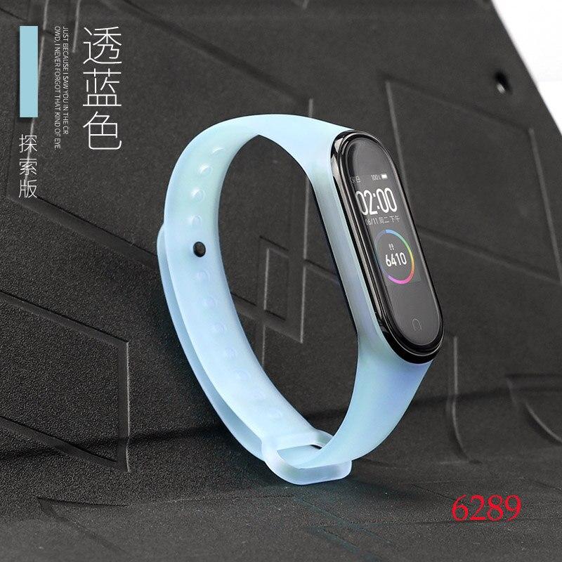 Для Xiaomi Mi Band 4/3 ремешок Металлическая пряжка силиконовый браслет аксессуары miband 3 браслет Miband 4 ремешок для часов М - Цвет: 6289