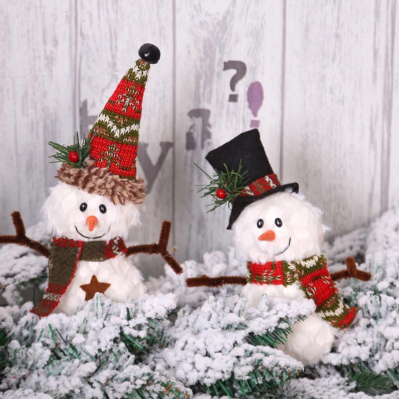 1Pcs Lovely Doll Santa Claus Snowman Christmas Tree Pendants Hanging Ornaments New Year Xmas Decor Home Party Decoration 62829