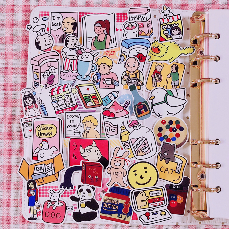 33 Pcs/pack Ins Sale Cartoon Girl Super Kawaii Sticker Hand Book Album Decoration Cute Diary Material Stationery Stickers