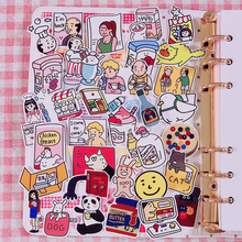 лучшая цена 33 Pcs/pack Ins Sale Cartoon Girl Super Kawaii Sticker Hand Book Album Decoration Cute Diary Material Stationery Stickers