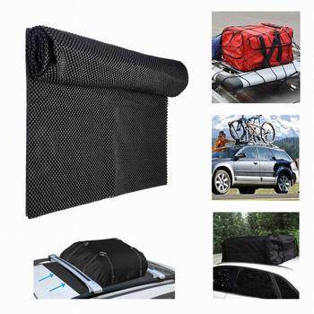 109*90CM Car Top Roof Pad PVC Rear Trunk SUV Cargo Luggage Baggage Bag Anti-Slip Mat Cushion Pad Foldable Mesh Mats Cover Black image