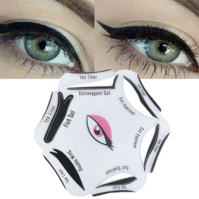 6 PCS/Set Cat Eye Line Models Smokey Eye Stencil Template Shaper Tool Cosmetic Easy Makeup Beauty Tools Accessories