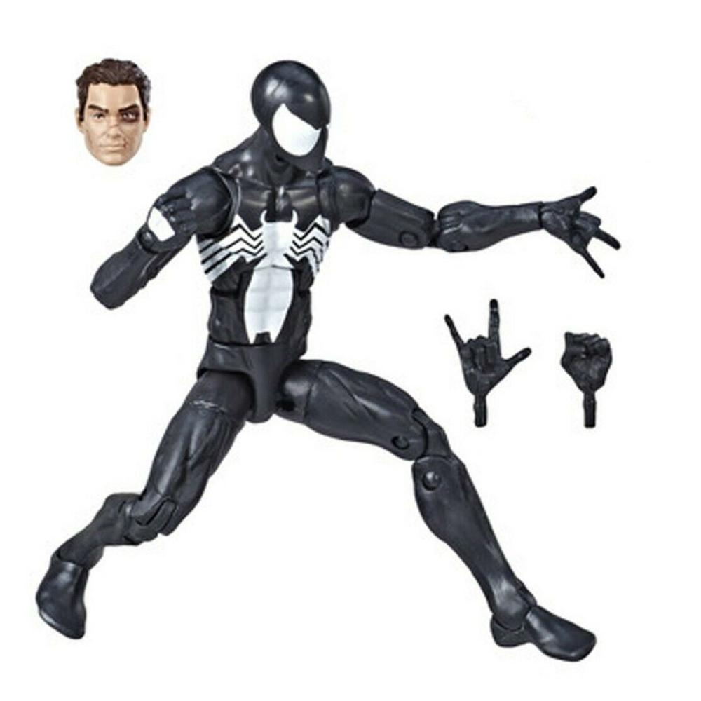 Marvel Legends 2019 Symbiote Spider Man Action Figure Black Spiderman Spider-man From Kraven The Hunter 2P Original Toys Doll