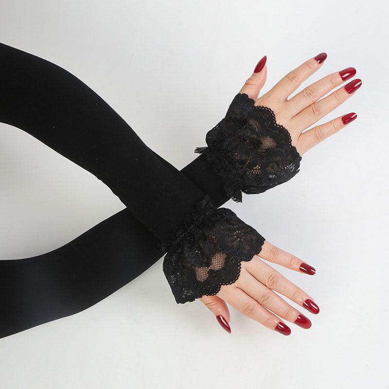Weibliche Sonnencreme arm Hülse Fahren Handschuhe Sommer Sonnenschutz Fahren Handschuhe Finger Handgelenk Elastische Hülse dame Lange Handschuhe
