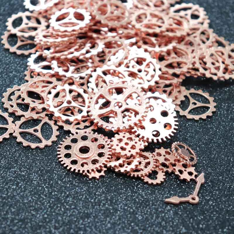 QIAOQIAO DIY Parts Pendant Vintage Craft Wrist Watch Cogs Steampunk Jewelry Gear Mechanical Mix Alloy DIY Bracelet Accessories