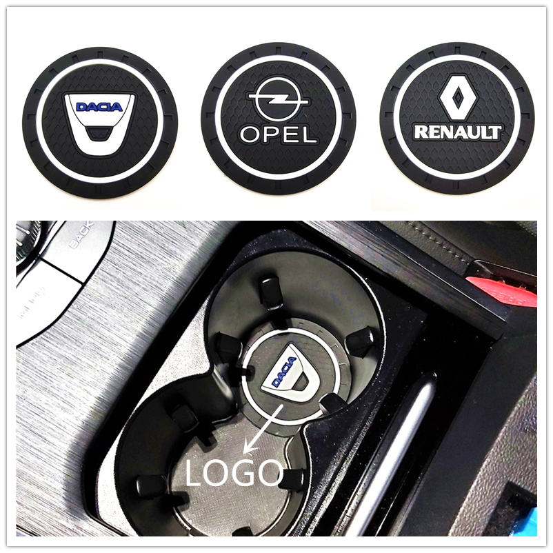1pcs Auto Emblem Car Coaster For Peugeot 206 207 Kia TOYOTA SKODA LADA OPEL BMW AUDI Toyota Mazda Car Accessories