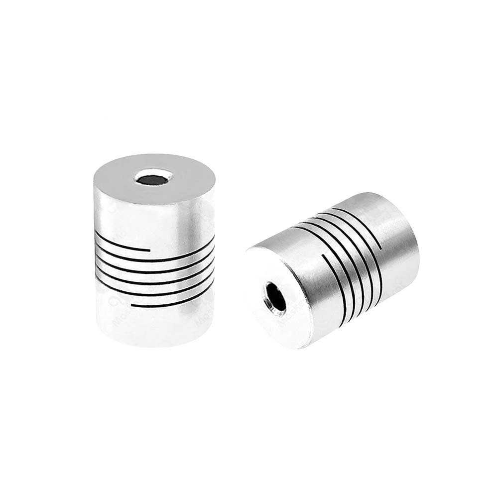 CNC מוטורי לסת פיר מצמד 5mm כדי 8mm גמיש צימוד OD 19x25mm סיטונאי Dropshipping עבור creality CR10 Ender-3 אנדר 3 פרו