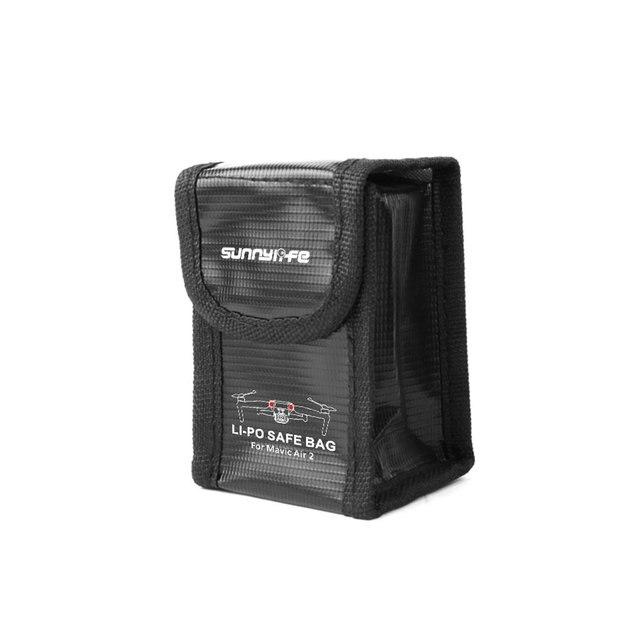 Drone Fireproof Battery Bag Fiberglass Cloth Black Explosion-proof Travel Accessories For Mavic Air 2 Storage Bag
