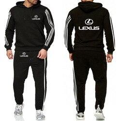Толстовки мужские для Lexus с логотипом автомобиля Повседневная мода Harajuku с принтом толстовка мужская повседневная толстовка + брюки 2 шт спор...