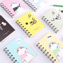 Cartoon Creative Coil Small Notebook Small Fresh Portable Mini Notepad Student Stationary School Office Supply cute mini coil portable notepad sheep chicken bird panda office student school supplies planner notebook inner page with line