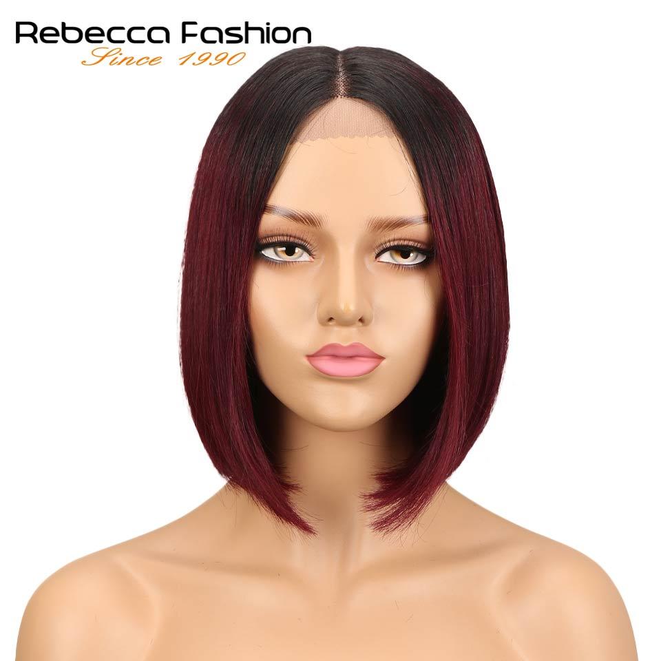 Rebecca bob lace front wigs For Black Women Peruvian short human hair wigs ombre human hair