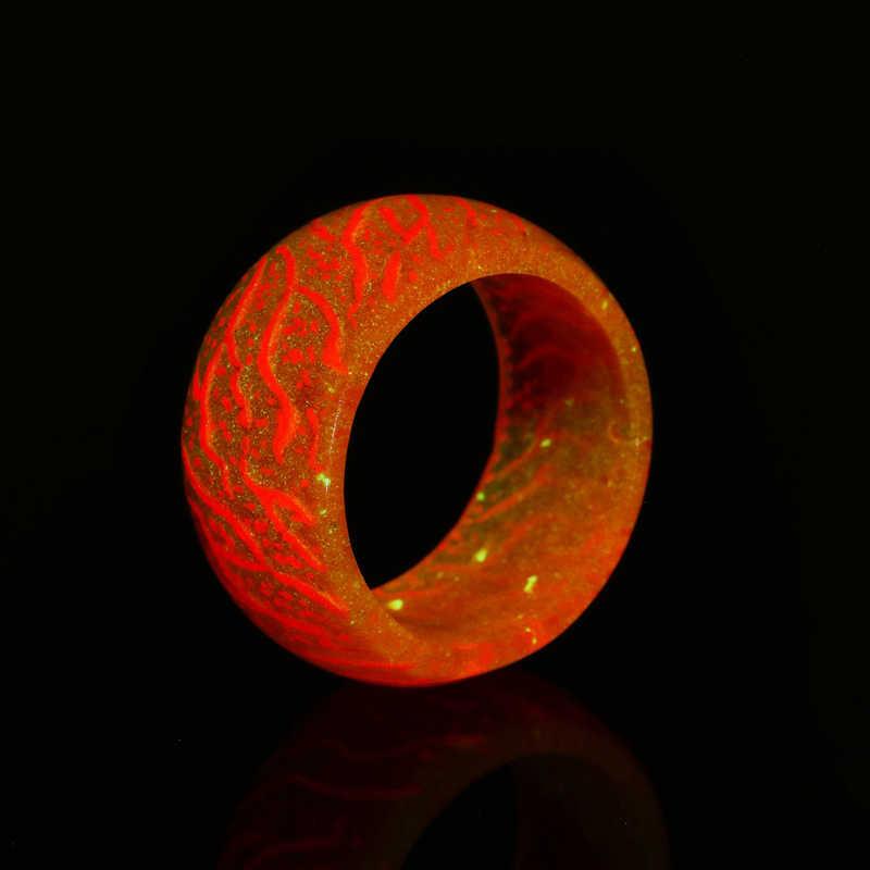 Luminous Cincin Trendy Cute Silikon Neon Cincin Menyala Dalam Gelap Fashion Perhiasan