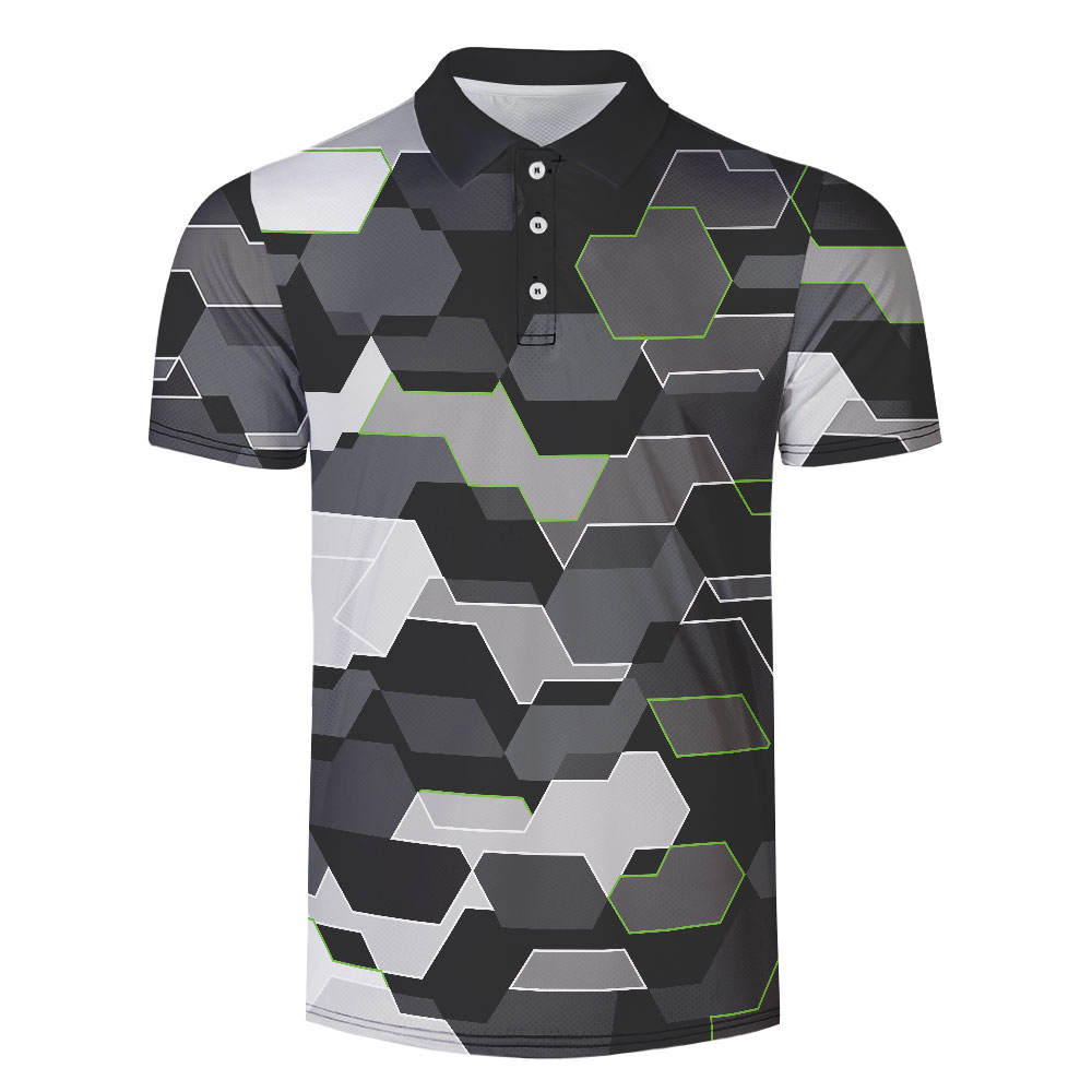 WAMNI 2019 New 3D Tennis T Shirt Camouflage Casual Sport Male Badminton Shirt Striped Turn-down Collar Quick Drying Polo-shirt