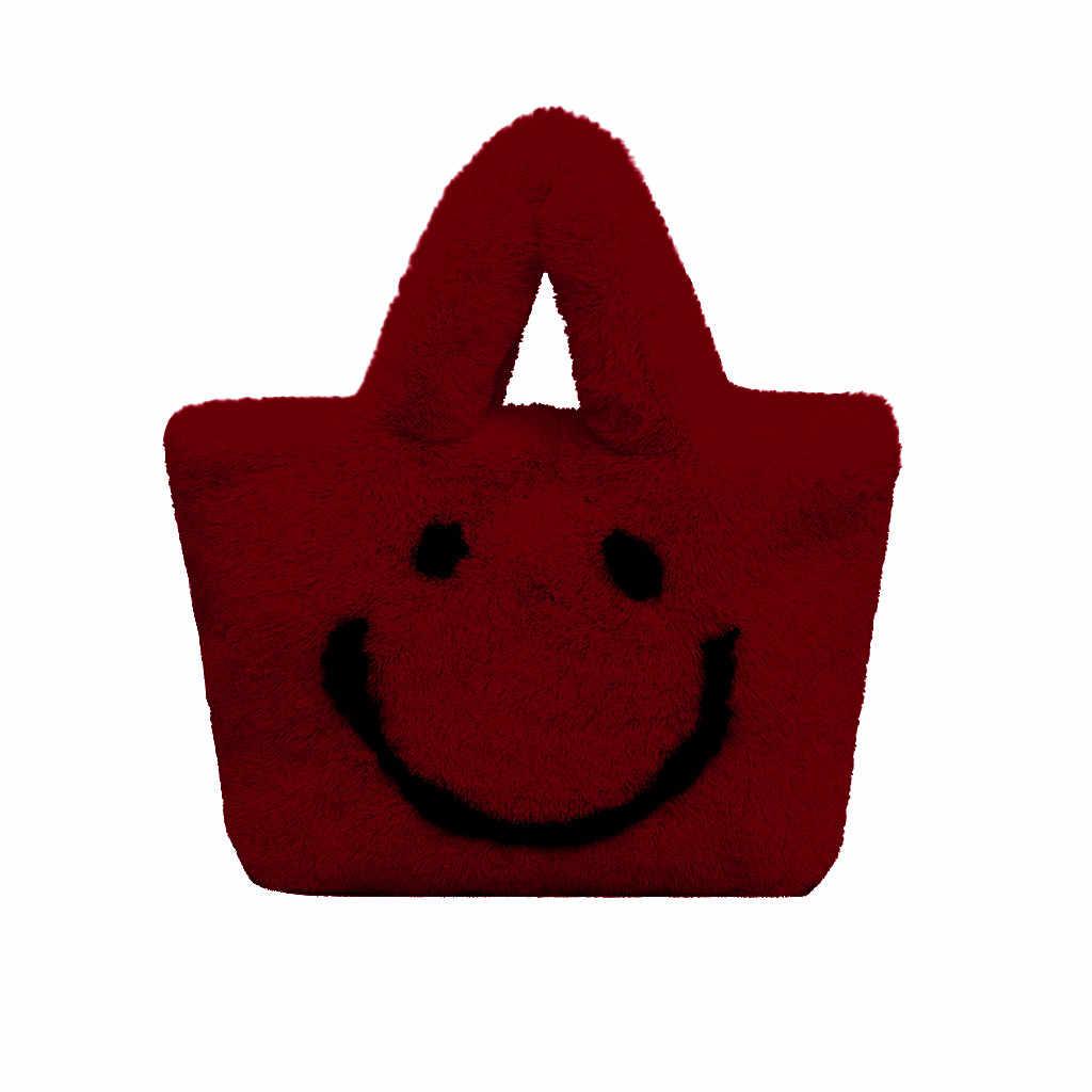 Frauen Einfache Art Und Weise Neue Frau Niedlichen Wilden Handtaschen Herbst Und Winter Plüsch Schulter Tasche Messenger Tasche Сумки Женские ##6