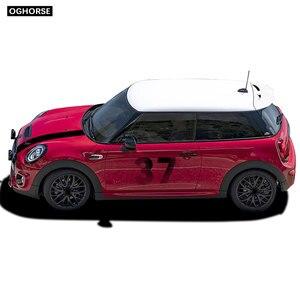 Image 5 - car styling Door Side Hood Bonnet Stripes Vinyl Decal Stickers for mini cooper R50 R52 R53 R55 R56 R57 R60 R61 F54 F55 F56 F60