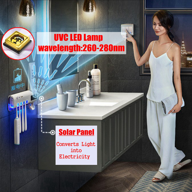 Storage-Box Toothpaste-Dispenser Toothbrush Multi-Function Bathroom Solar-Energy Usb-Charge