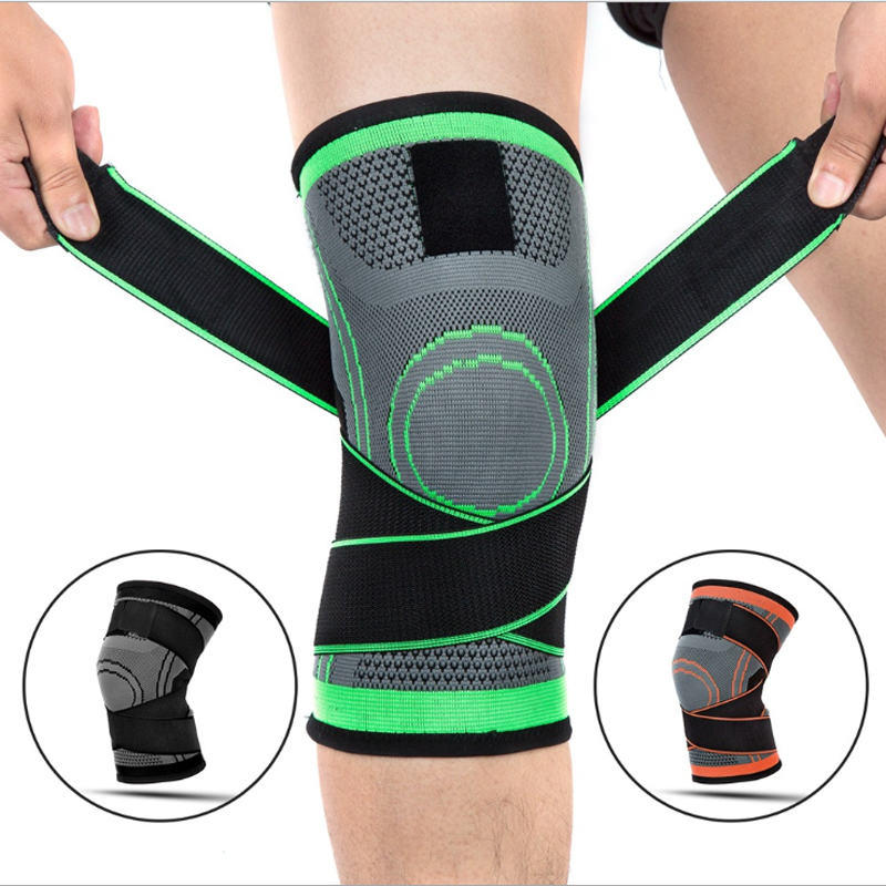 Sports Knee Pads Pressurized Elastic Knee Support Kinesiology Tape