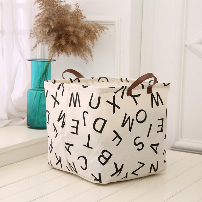 Spot Contracted Cloth Art Large Box Foreign Trade Bag Waterproof Storage Basket Creative Household Cotton And Linen Storage Box