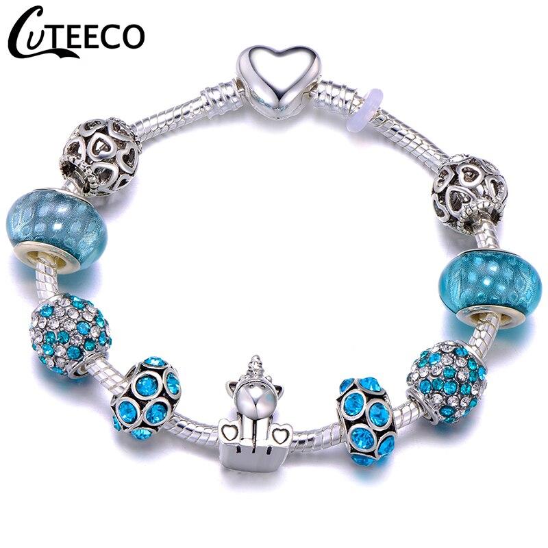 CUTEECO Европейский Любовь Сердце Шарм Браслеты и браслеты новые Марано бусины fits Дизайнерские Браслеты Женские Модные Ювелирные изделия Подарки