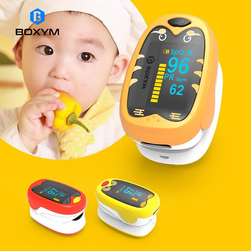 BOXYM bébé doigt oxymètre De pouls pédiatrique oxymètre De Dedo SpO2 PR OLED Rechargeable néonatale enfants enfants Pulsioximetro CE