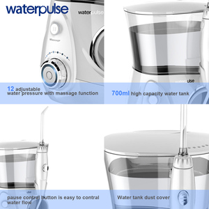 Image 3 - Waterpulse V660 12 pression Oral dentaire Flosser irrigateur V660 eau Pick avec 5 buses outils dhygiène buccale Irrigation orale