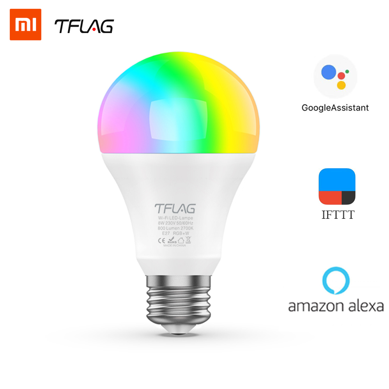 Global Version Xiaomi Smart LED Light Bulb With Wifi Connect Smart Light RGB E27 Bluetooth LED 8W Colorful 800 Lumens Lamp 57