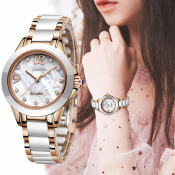 SUNKTA 2019 Luxury Crystal Watch Women Gift Waterproof Rose Gold Ladies Wrist Watches Top Brand Bracelet Clock Relogio Feminin