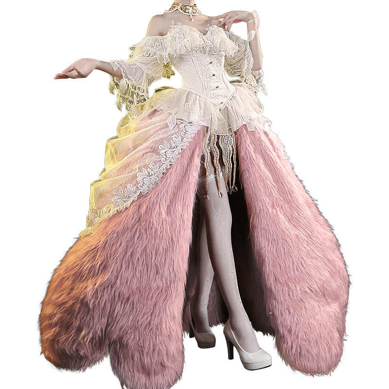 PRE-SALE dokidoki-sr jogo identidade v bloody queen mary bella donna cosplay senhora vermelha bloody queen 2nd aniversário