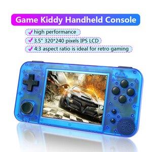 GKD350H-GameKiddy RG350H Retro konsola do gier 3.5 calowy ekran IPS przenośna podręczna gra wideo konsola 350H odtwarzacz gier dziecko prezent