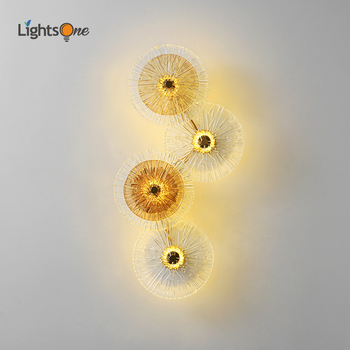 Postmodern light luxury wall lamp living room background wall bedside personalized glass aisle wall light
