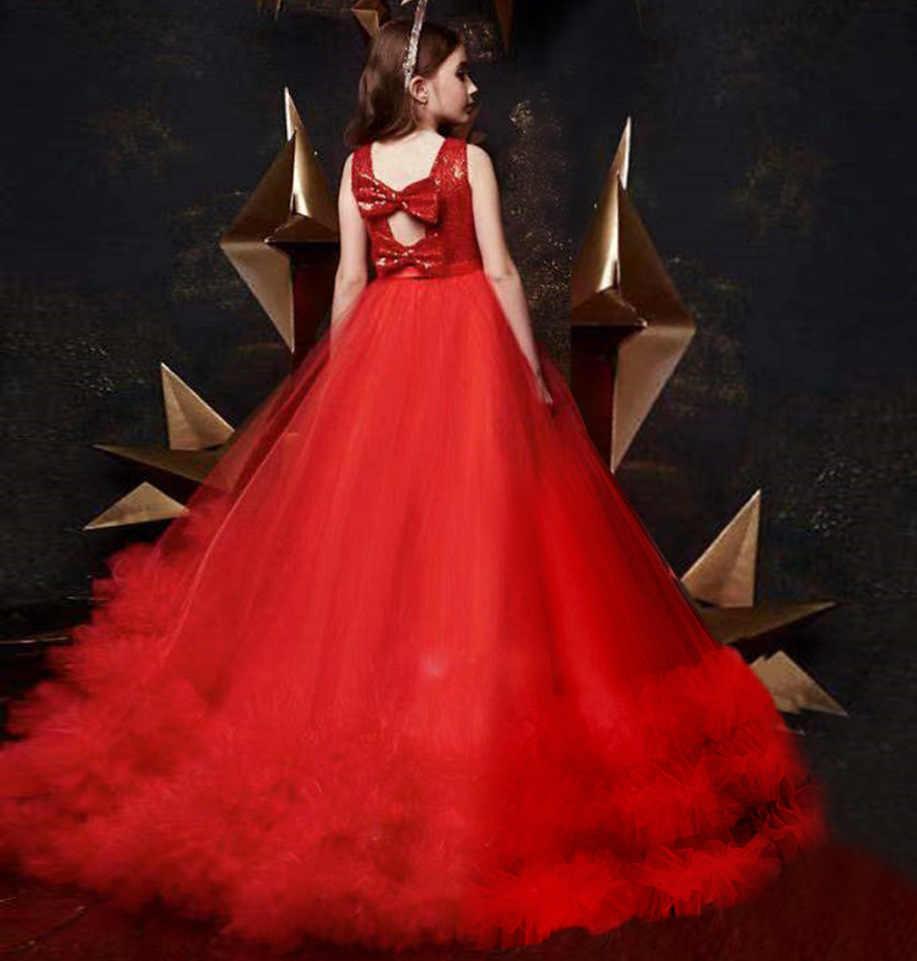Teenage Girls Formal Party Dress Elegant Kids Sequin Dresses for ...