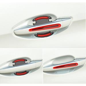 Image 4 - Car door handle door bowl Reflective Sticker Accessories for Honda CRV Accord Odeysey Crosstour FIT Jazz City Civic JADE Crider