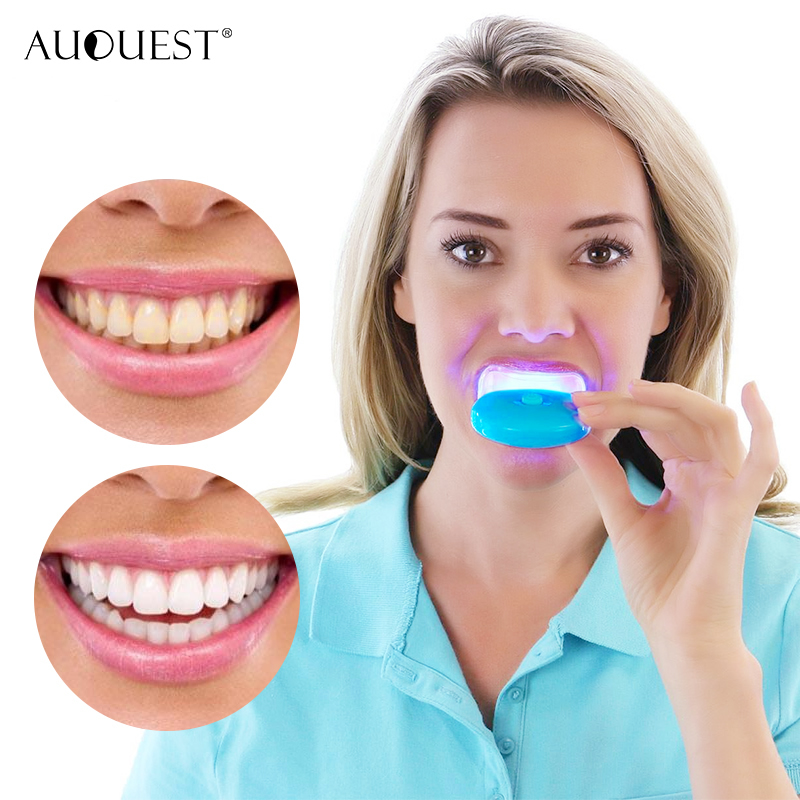 Auquest Teeth Whitening Kit With Led Light Mini Painless Travel