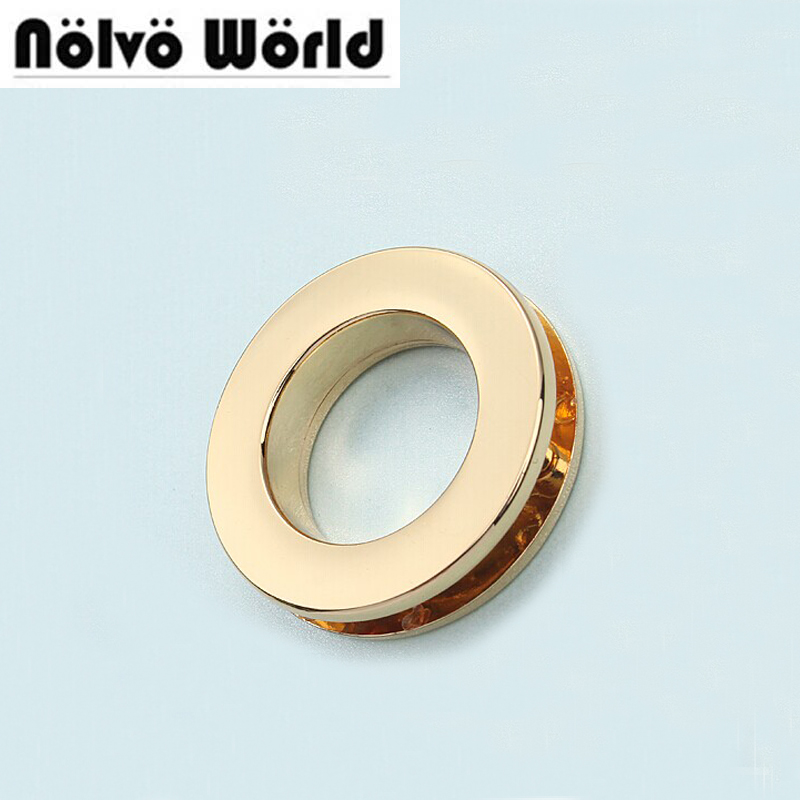50pcs 6 Colors 32.2*19.3*3.9mm Grommet Gold Eyelet In Screws,bags Metal Hardware Accessories Round Rivet Eyelets