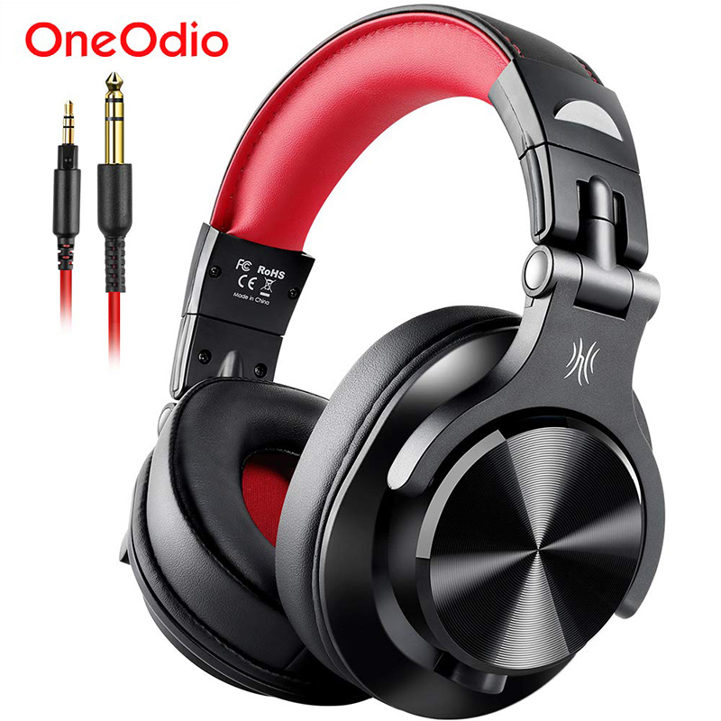 Oneodio A71 Stereo Wired Over Ear Headphone With Mic Studio DJ Headphones Professional Monitor Recording & Mixing Headset image