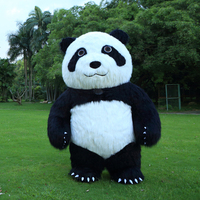 2M Tall Animal Cartoon Panda Inflatable Costume Mascot for Adult Suitable for 1.6m To 1.8m Adult for Halloween Cosplay