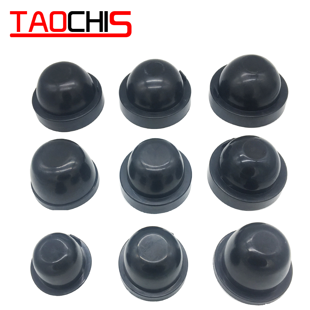 Taochis 2Pcs Car Light Headlight Dust Cover Rubber Dustproof For HID LED  65mm-110mm Waterproof Sealing Headlamp Cover Cap