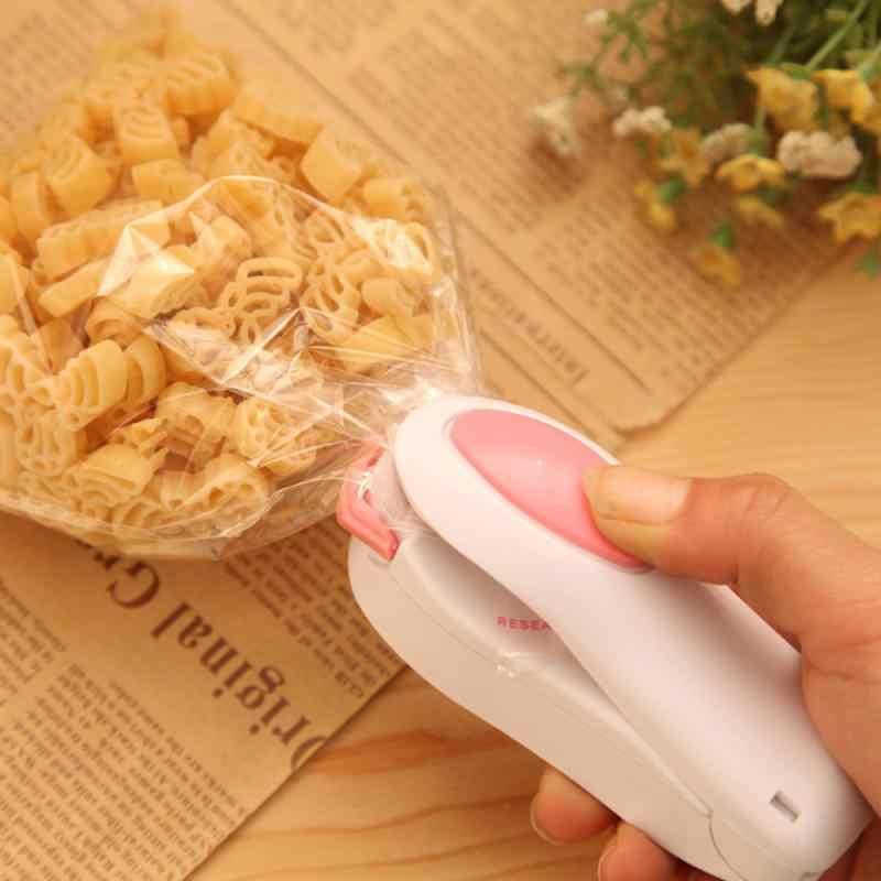 Aferidor do calor portátil pacote plástico lanche máquina de armazenamento mini máquina selagem acessível adesivo e selos para alimentos cozinha gadget