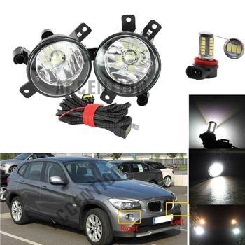 LED coche-estilo LED de luz antiniebla delantera niebla lámpara coche LED para BMW E84 X1 2009, 2010, 2011, 2012, 2013, 2014, 2015
