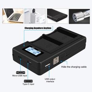 Image 2 - 1 4 1800MAh LP E12 LPE12 LP E12 Pin Máy Ảnh AKKU + Màn Hình LCD USB Sạc Cho Canon M 100D Kiss X7 Nổi Dậy SL1 EOS M10 EOS M50 DSLR
