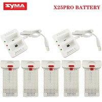SYMA-Batería y cargador para Drones X25PRO 7,4 V 1000mAh, recambios de batería para cuadrirrotor RC x25 PRO Lipo