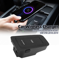 Car Phone Wireless Charger Dedicated Fast Charge For Volvo XC90 XC60 S90 V90 2018 2019 Mobile Plate Car Accessories
