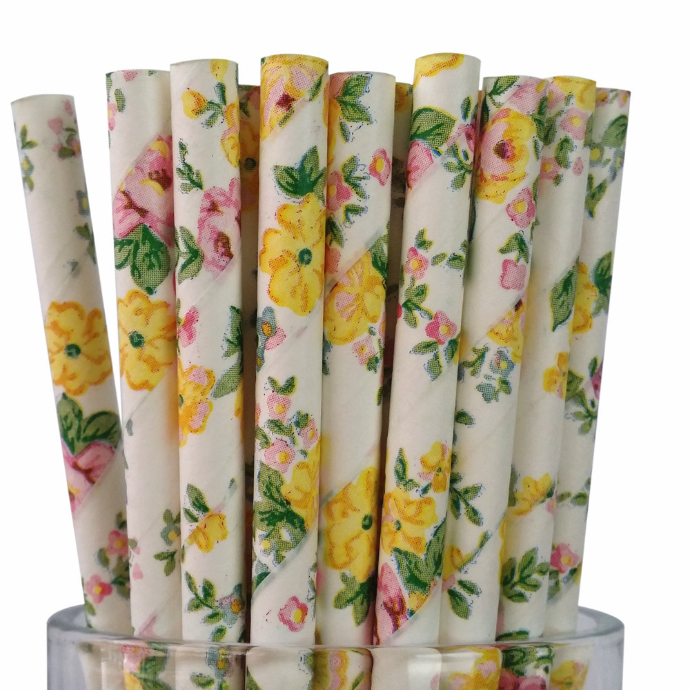 Cross Border Business Amazon Jasmine Paper Sucker Wedding Bar Disposable Environmentally Friendly Kraftpaper 25 Root Packaging