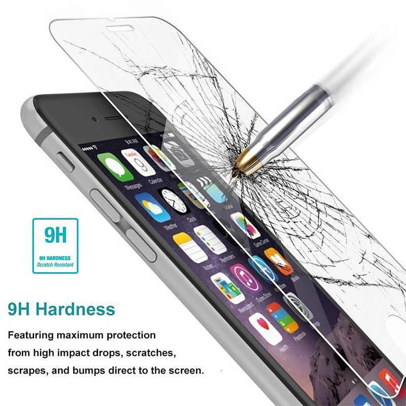 9 h hd vidro temperado para iphone x 10 8 7 11 pro 6s 6 5 5S se 4S vidro da tela no iphone 7 mais filme claro para iphone 11 xs xr max