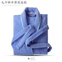 Чистый хлопчатая ткань для полотенец для обоих Для мужчин и Для женщин Халат банный теплый халат плюс-размер затрудняетесь в выборе правильного размера? Отель пары Ночная рубашка детская одежда от a Generation of Fat